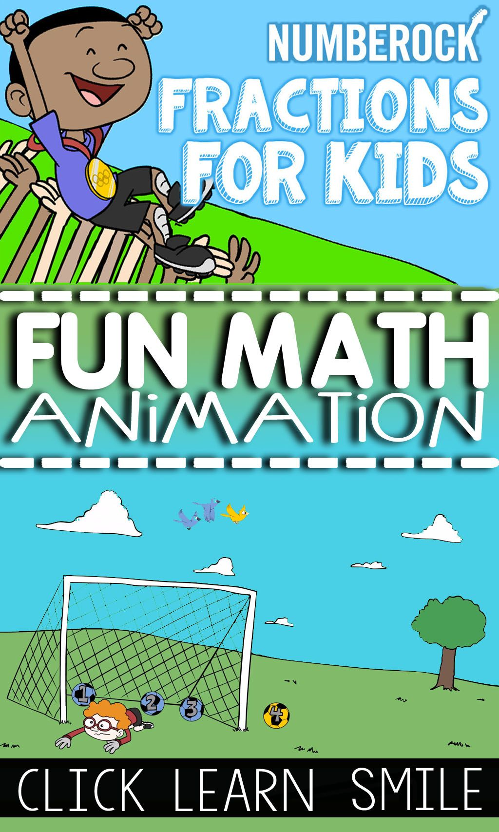 Fractions Song and Animated Video - Free with No Ads!