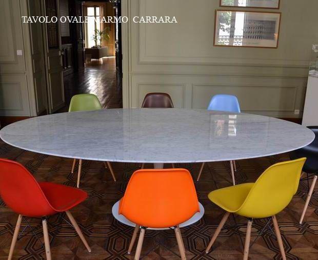Tavolo Saarinen Marmo : Tavolo ovale saarinen marmo eero saarinen bauhaus classic