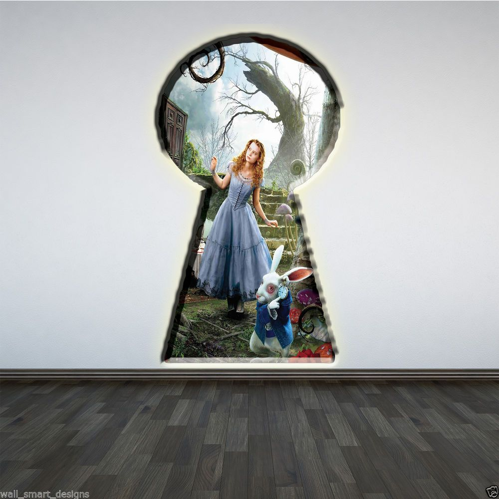 Alice In Wonderland Full Colour Wall Art Sticker Girls