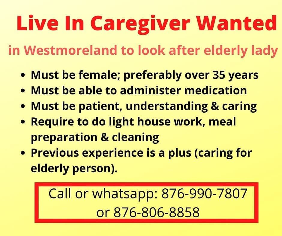 Pin by A Need A Job Jamaica on Job in 2020 Elderly