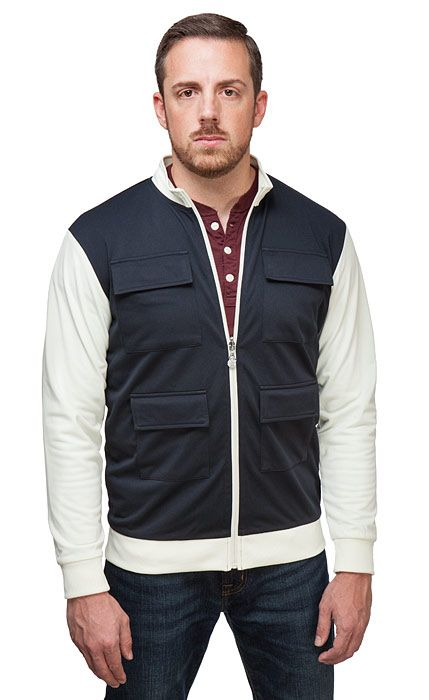 e3a3fdb496807 This Han Solo Track Jacket features the look of our favorite nerfherder s  iconic vest