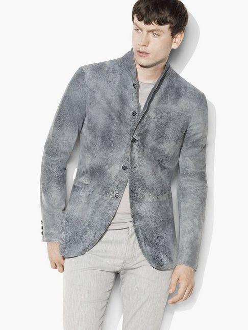 Hand-Sprayed Leather Jacket