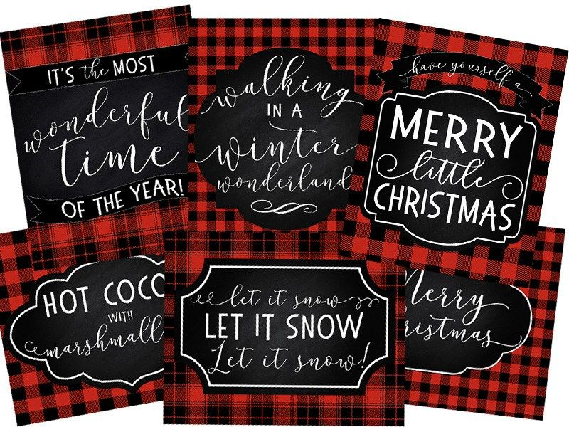 6 Free Printable Christmas Signs Six Clever Sisters Printable Christmas Cards Free Christmas Printables Christmas Printables