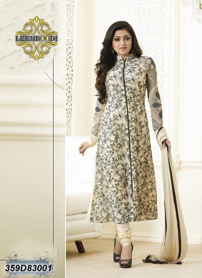 2aa0ebf72 Distinctive Cream Coloured Semi stitched Salwar Suit