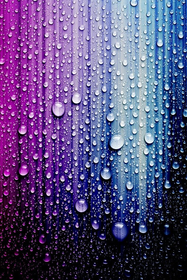 **Blue and purple raindrops