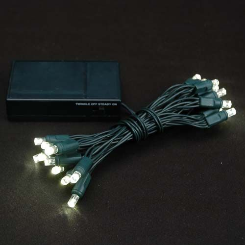Show details for 20 led battery operated lights warm white 20 led assorted multi battery powered christmas lights for indoor and outdoor holiday decorating 20 light set on green wire runs on 3 aa batteries aloadofball Gallery