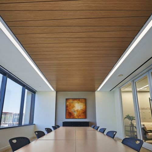 Commercial Wood Ceilings From Armstrong Ceiling Solutions Include Panels Planks Canopies Acoustical Custom