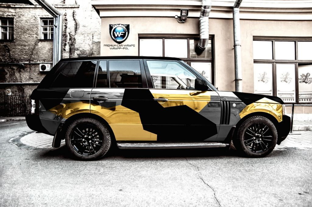range rover car wrap folie camouflage camo wrap. Black Bedroom Furniture Sets. Home Design Ideas