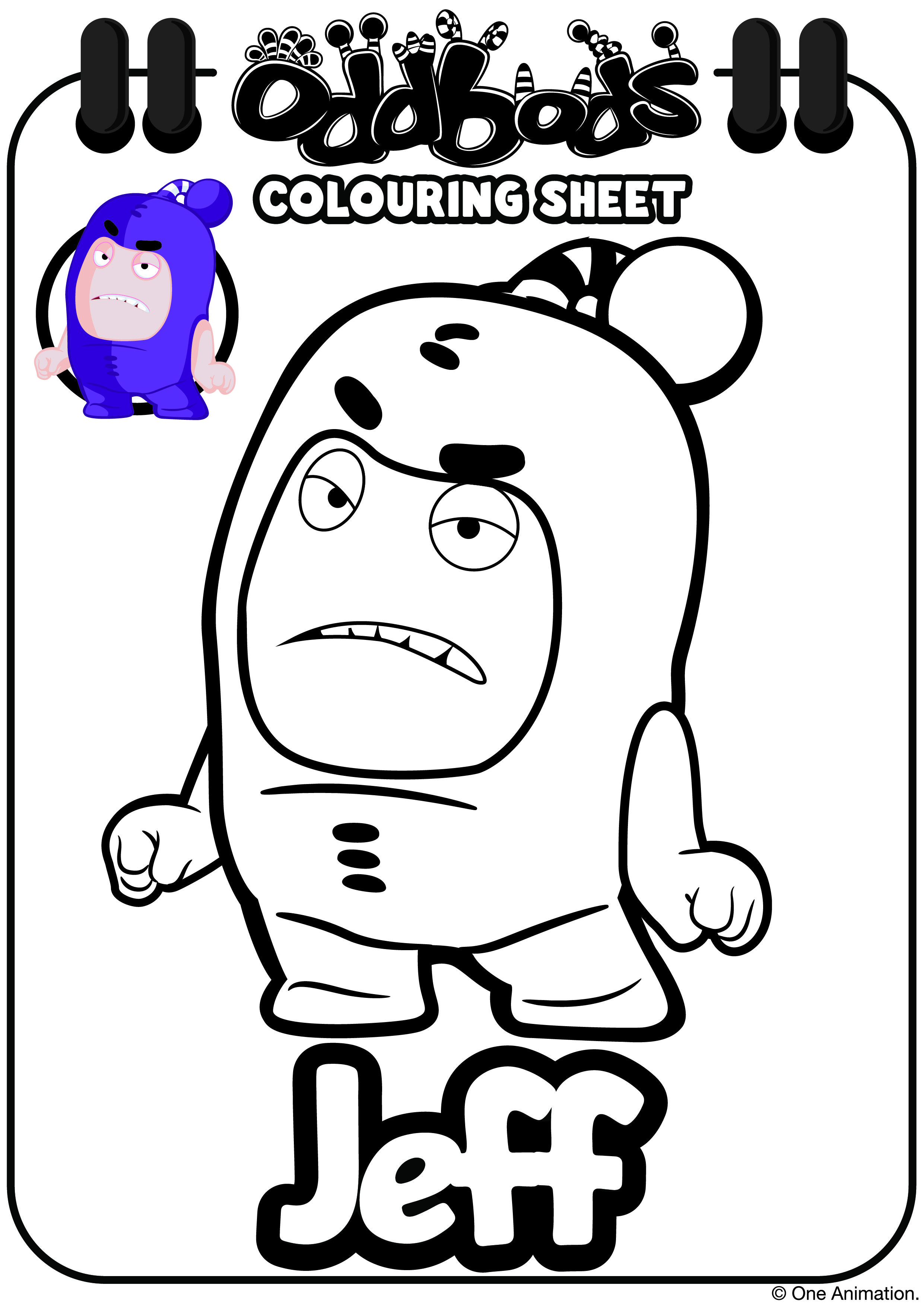 Oddbods Colouring Sheet Jeff Coloring Books Kids Coloring Books Coloring For Kids