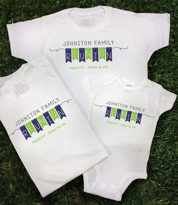 Personalized Family Reunion Shirts  Choose Your by BethanysRoom