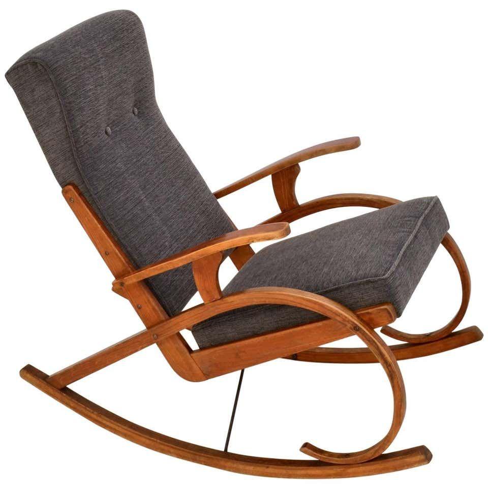 1930 S Strong Modernist Design Czech Rocking Chair In Bentwood Rocking Chair Chair Design