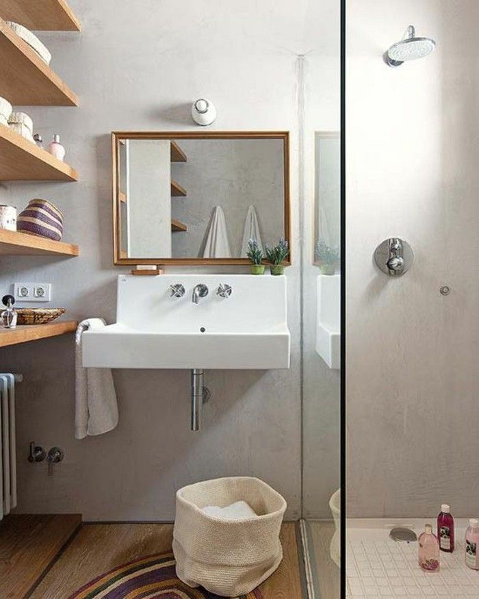 Comment am nager une salle de bain 4m2 house interiors bathroom room bathroom renovations for Idee pour renover une petite salle de bain