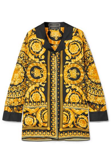 16865ad8b5a2 VERSACE 印花真丝斜纹缎面衬衫.  versace  cloth     Versace   Versace ...