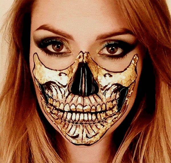 Makeup artist Vanessa Davis incredible skull-inspired looks ...