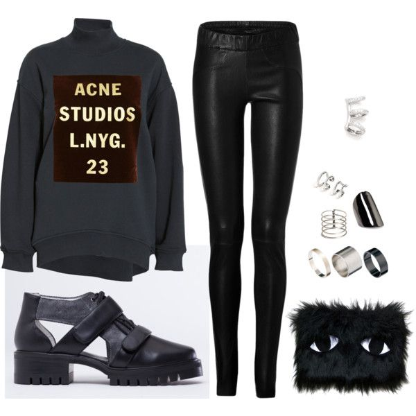 """HAIR TUCKED IN"" by solestruck on Polyvore"