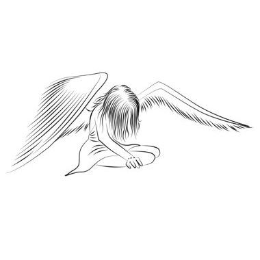 Ange triste tatoo ange pinterest ange triste triste et tatoo - Dessin triste ...