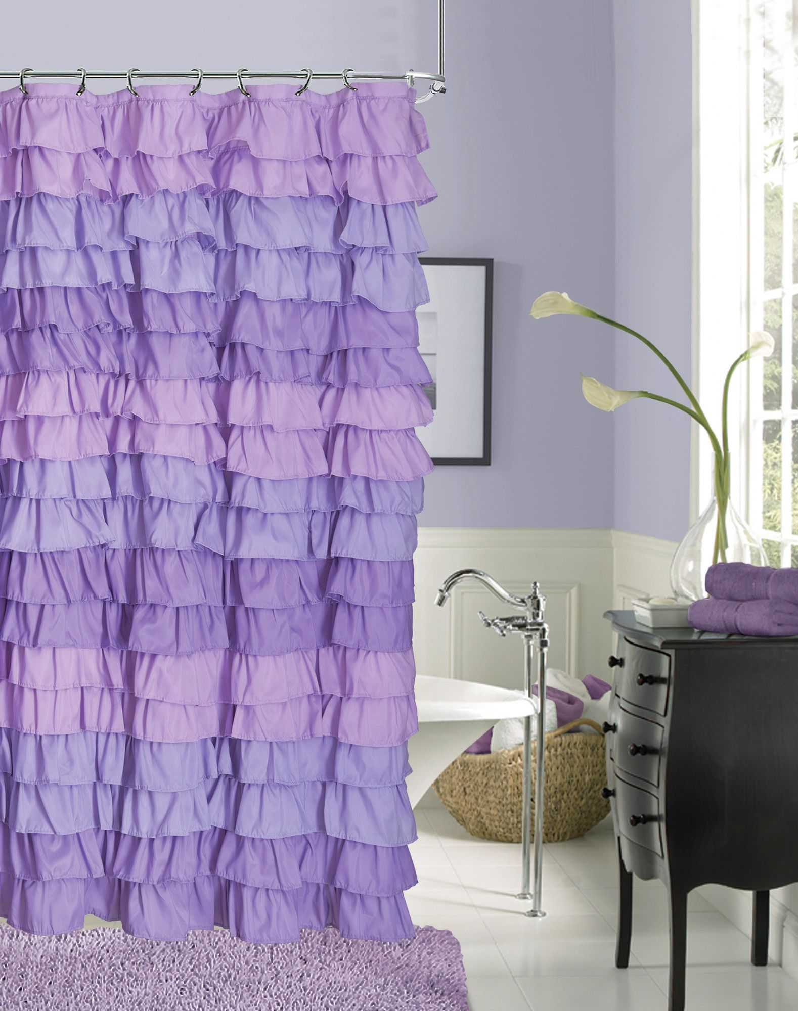 Venezia Ruffle Shower Curtain Products