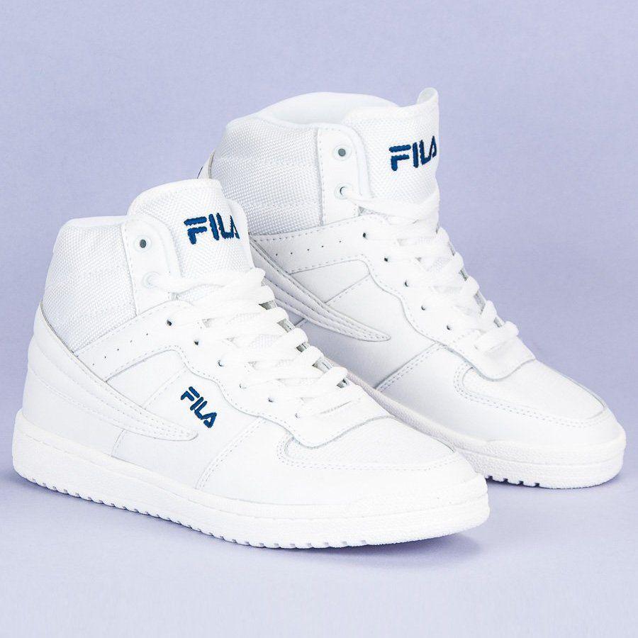 Fila Block Mid Wmn Biale High Top Sneakers Fila Top Sneakers