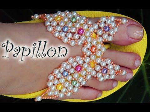 5eff957c3 Chinelo decorado: Borboleta de renda francesa, manta de pérola. - YouTube
