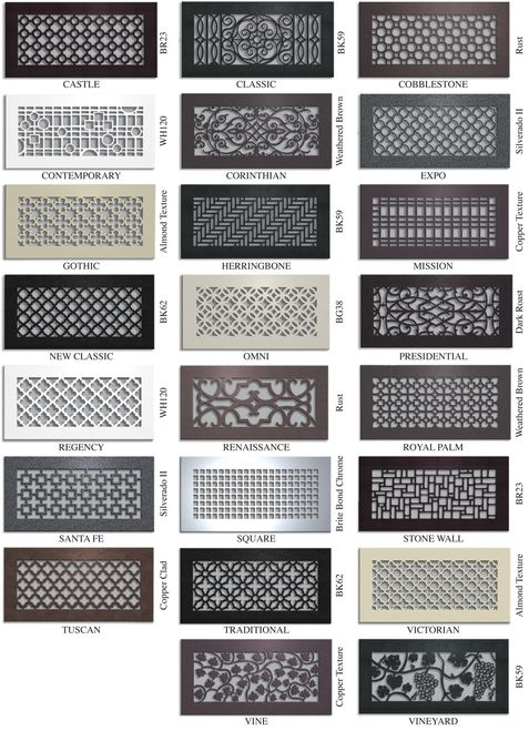 Leave No Detail Untouched Buy Decorative Vent Covers For Your Home And Complete The Look From Vent Covers Unlimited Shop Home Diy Air Vent Covers Air Return