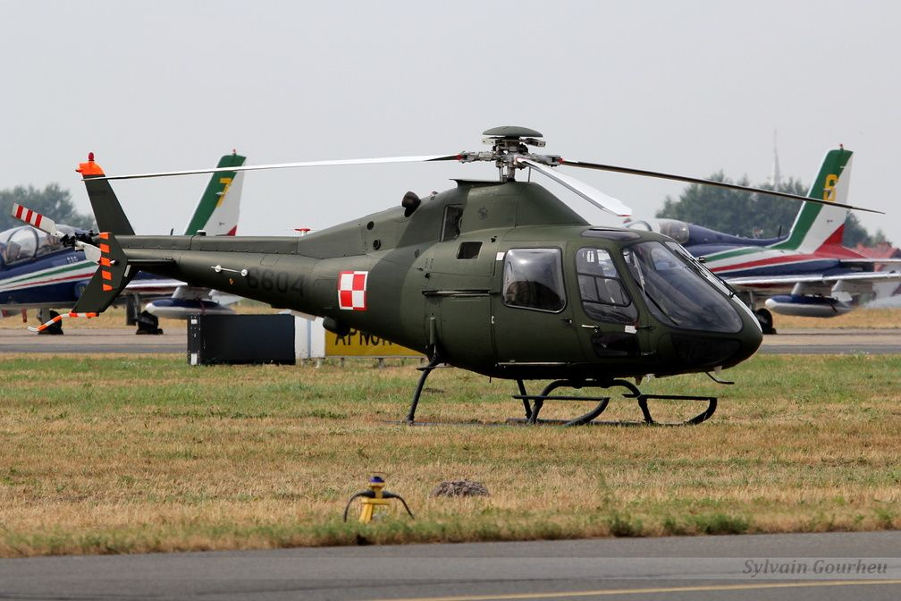 Polish Swidnik SW-4 is a light single-engine helicopter. Supposed to be able to fulfill several missions, both training and pilot training for border surveillance missions, police missions and control, etc. Here at Radom Air Show, Poland, 22-23 August 2015.