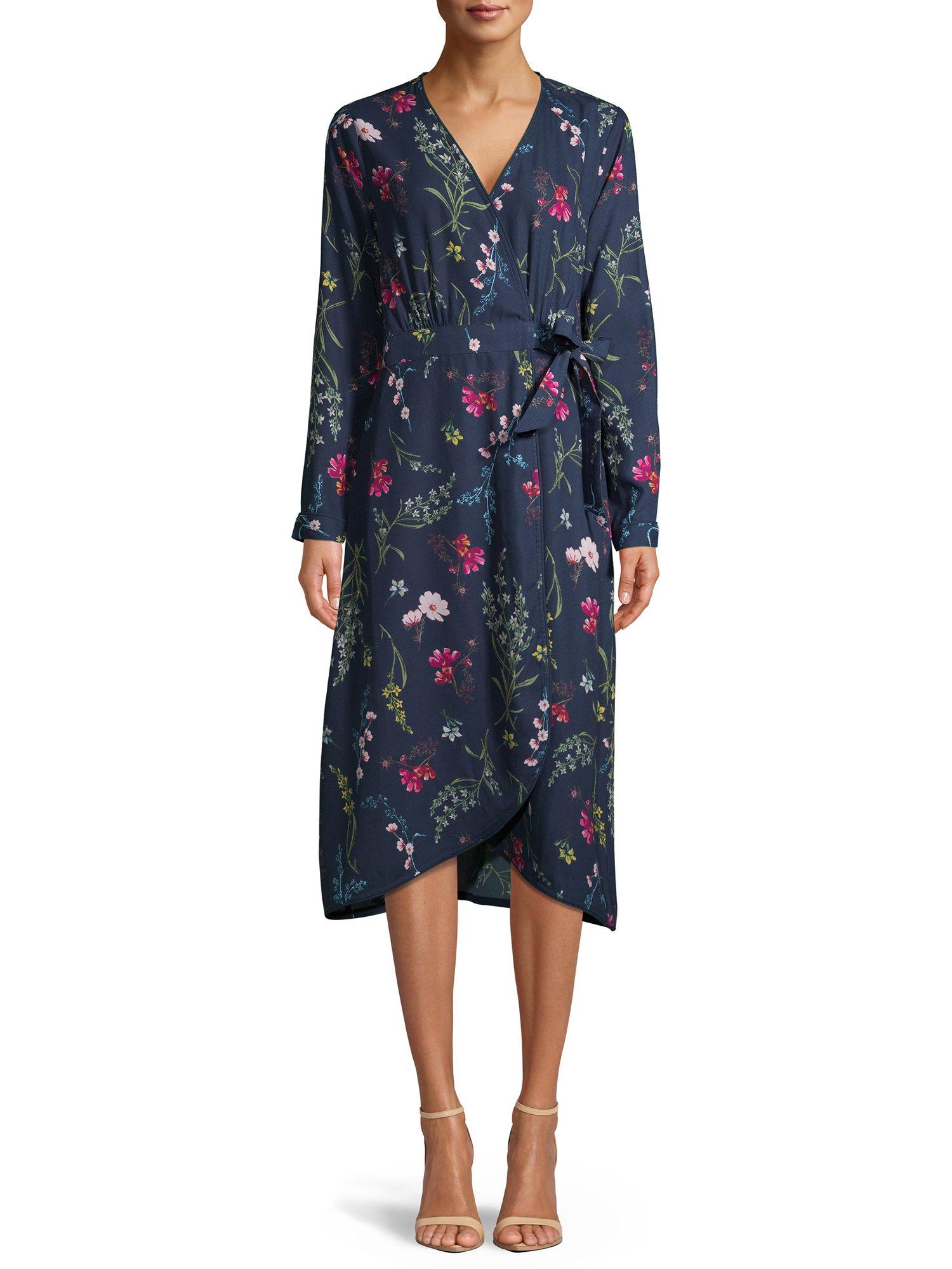 Time And Tru Time And Tru Women S Long Sleeve Faux Wrap Dress Walmart Com Wrap Dress Dresses Faux Wrap Dress [ 2000 x 1500 Pixel ]