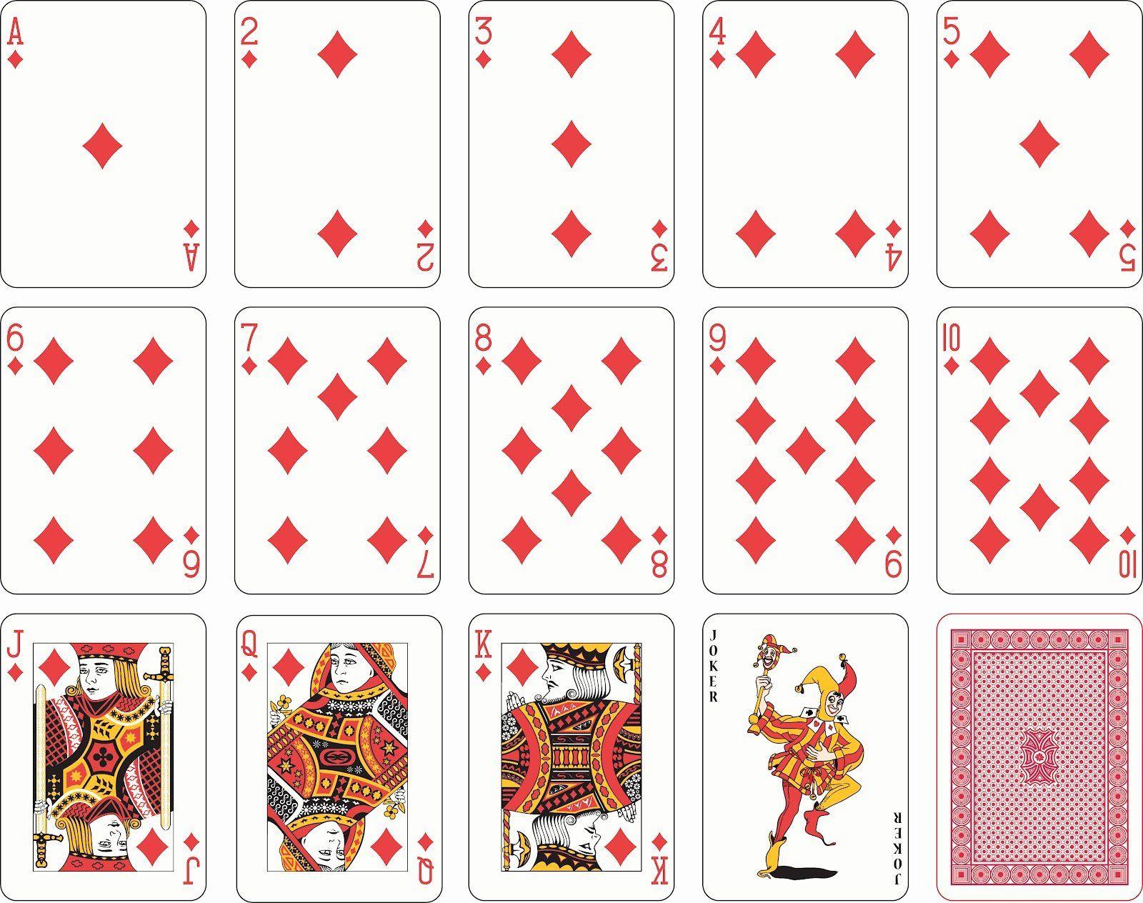 Deck Of Cards Template Unique Stock Vector Full Deck Playing Cards Templates E Temas Naipes Cartas De Baralho Baralho