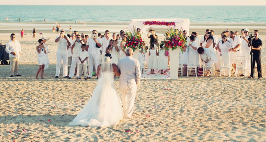 Destination Beach Wedding In Puerto Co Mexico Rocky Point