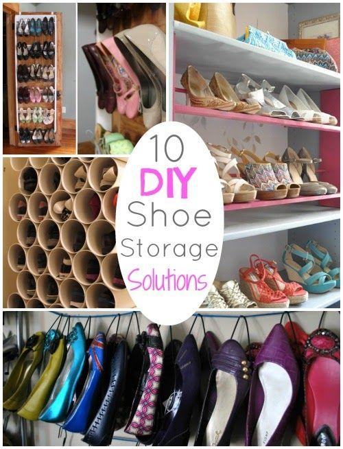 Soluções simples para organizar os sapatos.