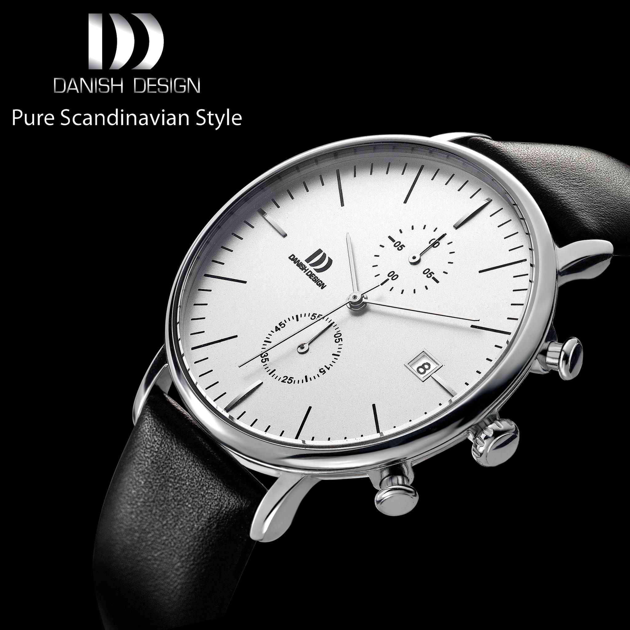 products black band white simple index trouvaille watches classic dial gents leather watch