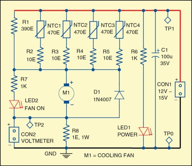 Speed Controller for Small Cooling Fans Electronics