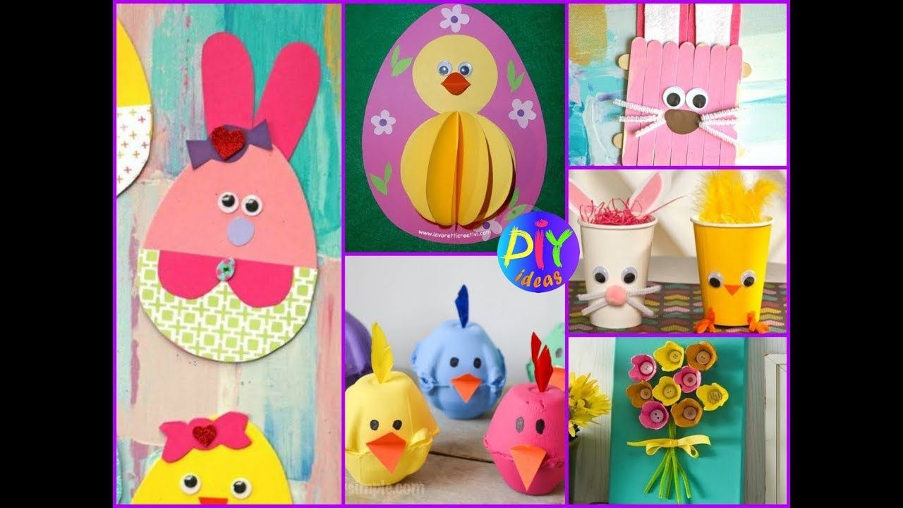 Easy And Creative Preschool Easter Crafts Ideas For Kids Youtube