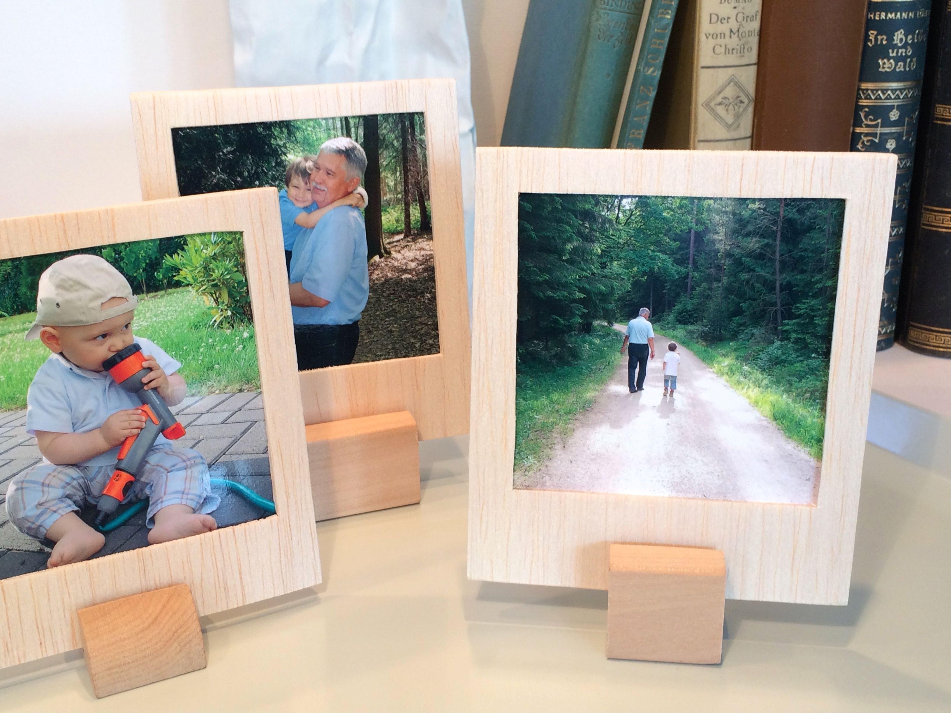 Bilderrahmen aus Holz in Polaroid-Optik | Polaroid