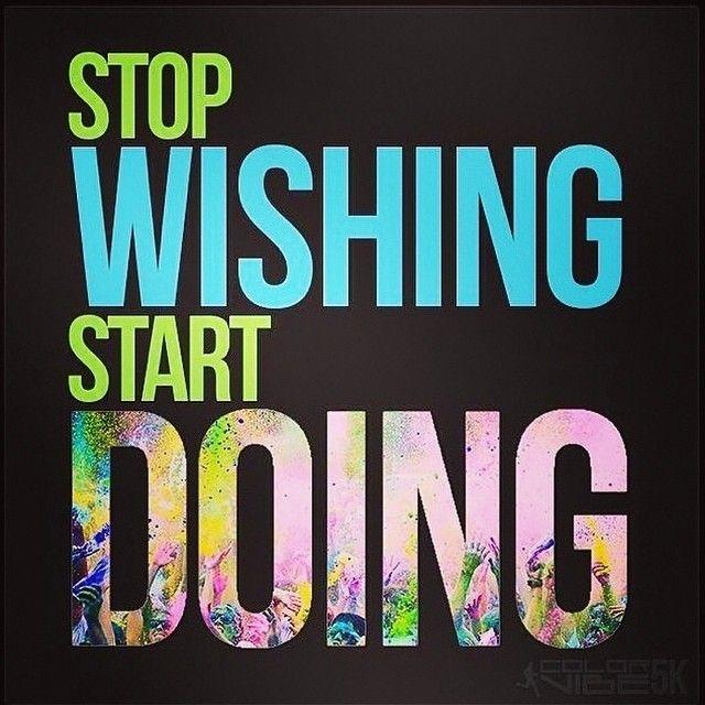 25 Kick-Ass Fitness Quotes | StyleCaster  願うのはやめて、始めよう #fitness #inspiration #フィットネス #モチベーション #名言
