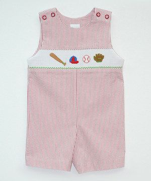 6ce17b916 Love this Red Baseball John Johns - Infant & Toddler by Smocked Giraffe on # zulily! #zulilyfinds