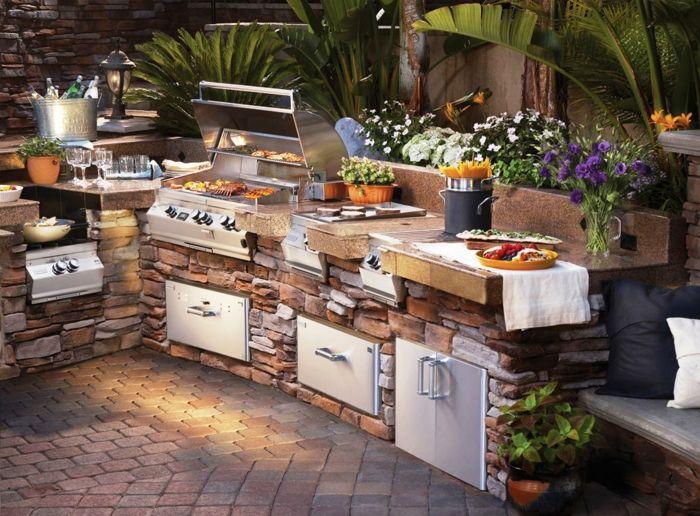 ideen für gartenküche Ideas 4 friends Pinterest - outdoor patio design ideen
