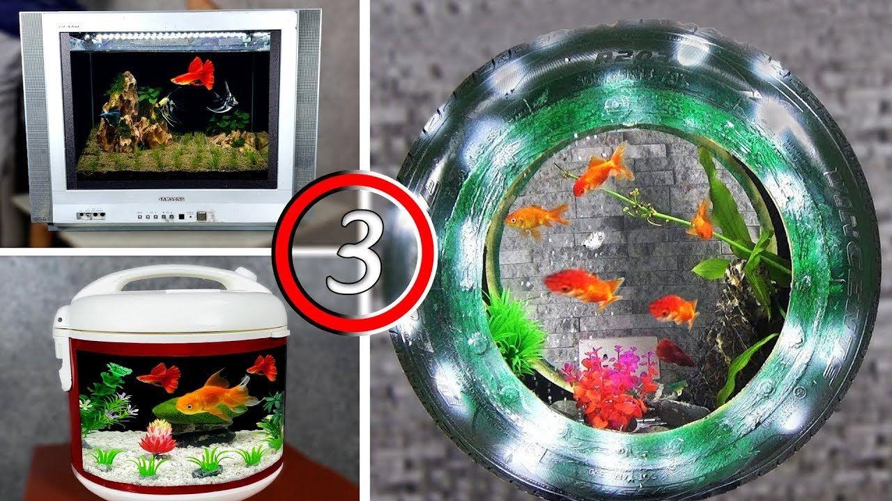3 CRAZY IDEAS   DIY AQUARIUM   YouTube in 2020 | Diy aquarium