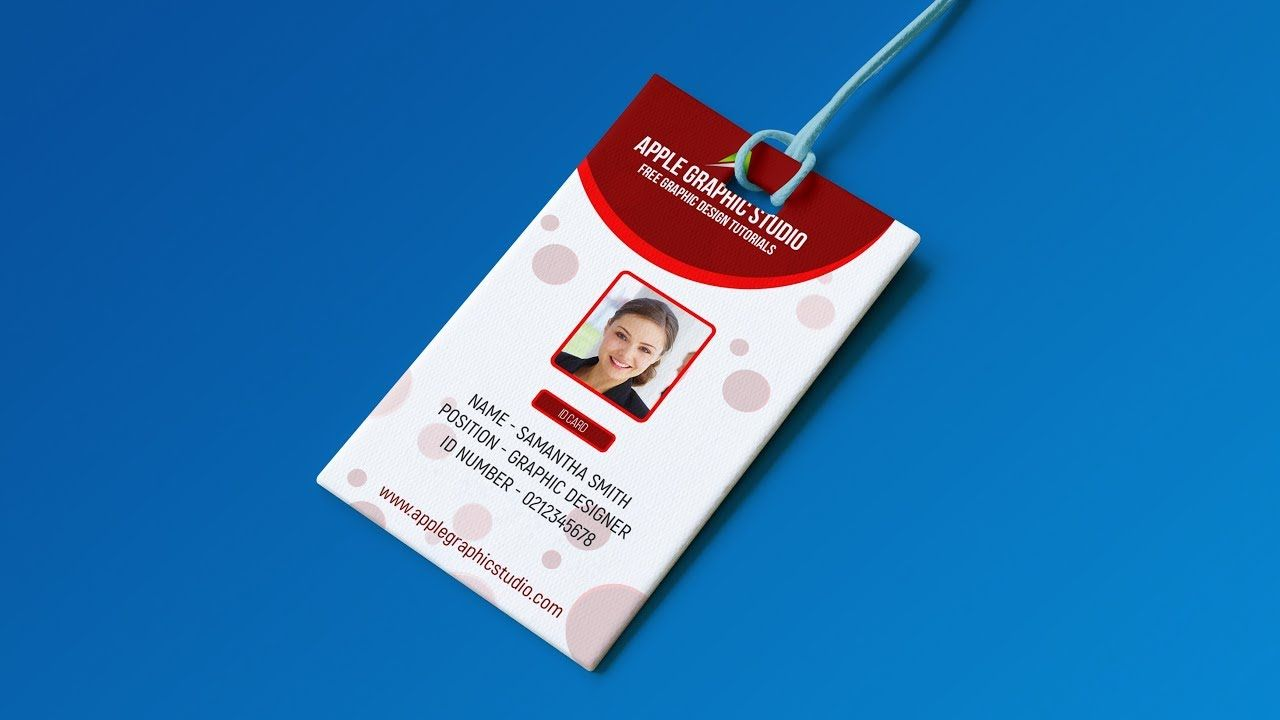 Create Professional Id Card Template Photoshop Tutorial Inside Id Card Design Template Psd Free Download Id Card Template Card Templates Free Card Template