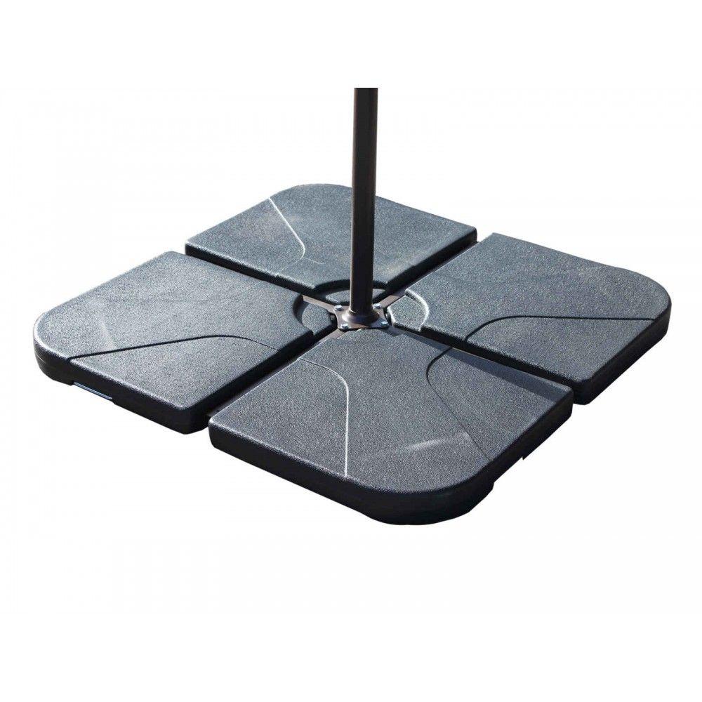 Plastic Base For Cantilever Parasol 4 Pieces Cantilever Parasol Parasol Garden Parasols