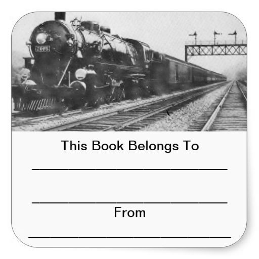 Lehigh Valley Train Bookplates Square Stickers perfect for my dad