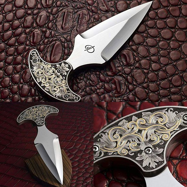#pushdagger #customknives #engraving #guildknife #knifeporn #usnknives #daggerknife