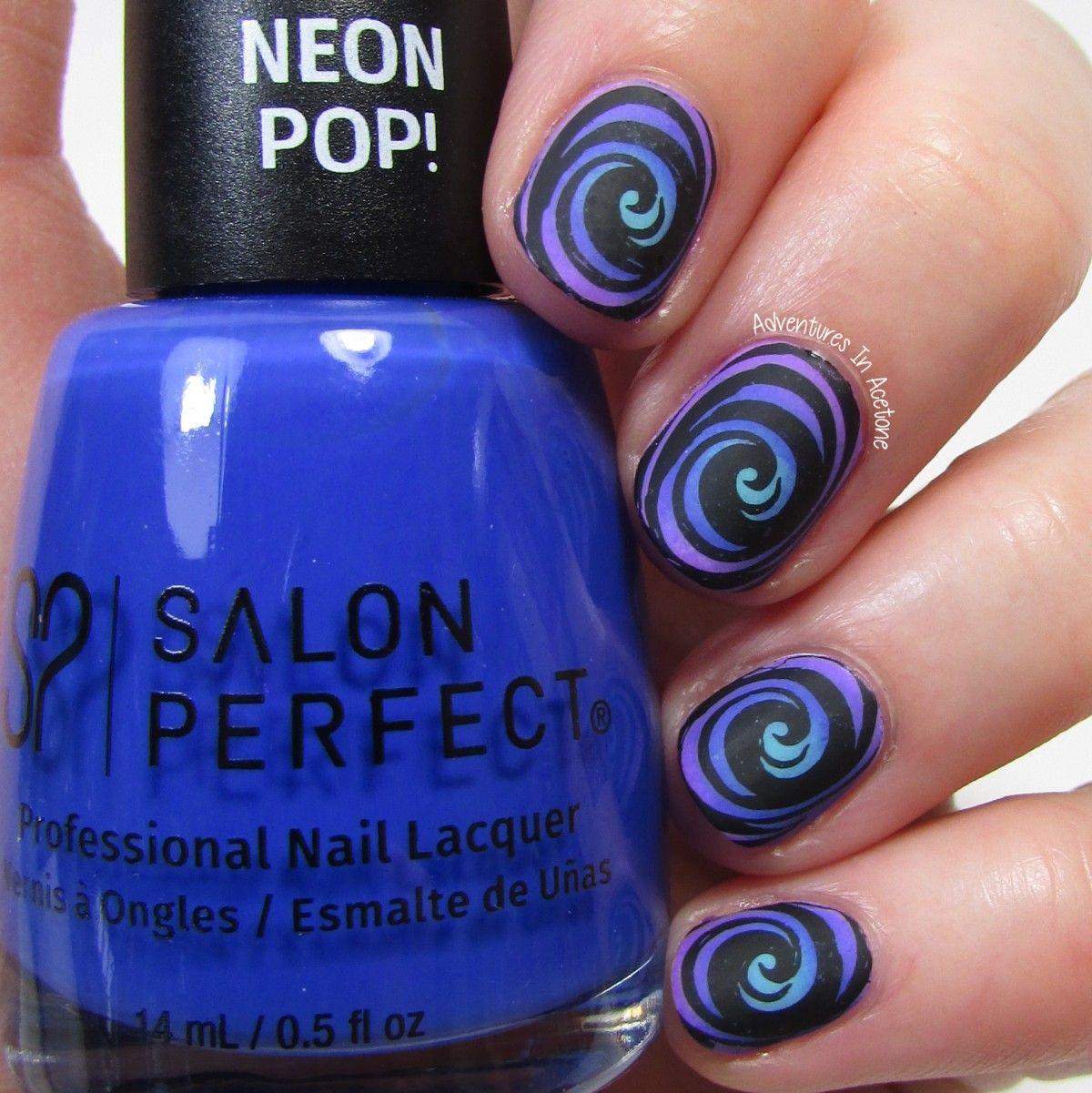 Radial Gradient Spiral Nail Art 2 | Halloween nails, Nails ...