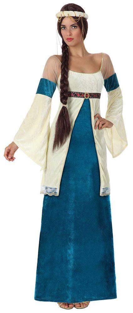 61fc6c369 Disfraz de dama medieval para mujer | Ropa | Disfraz medieval mujer ...