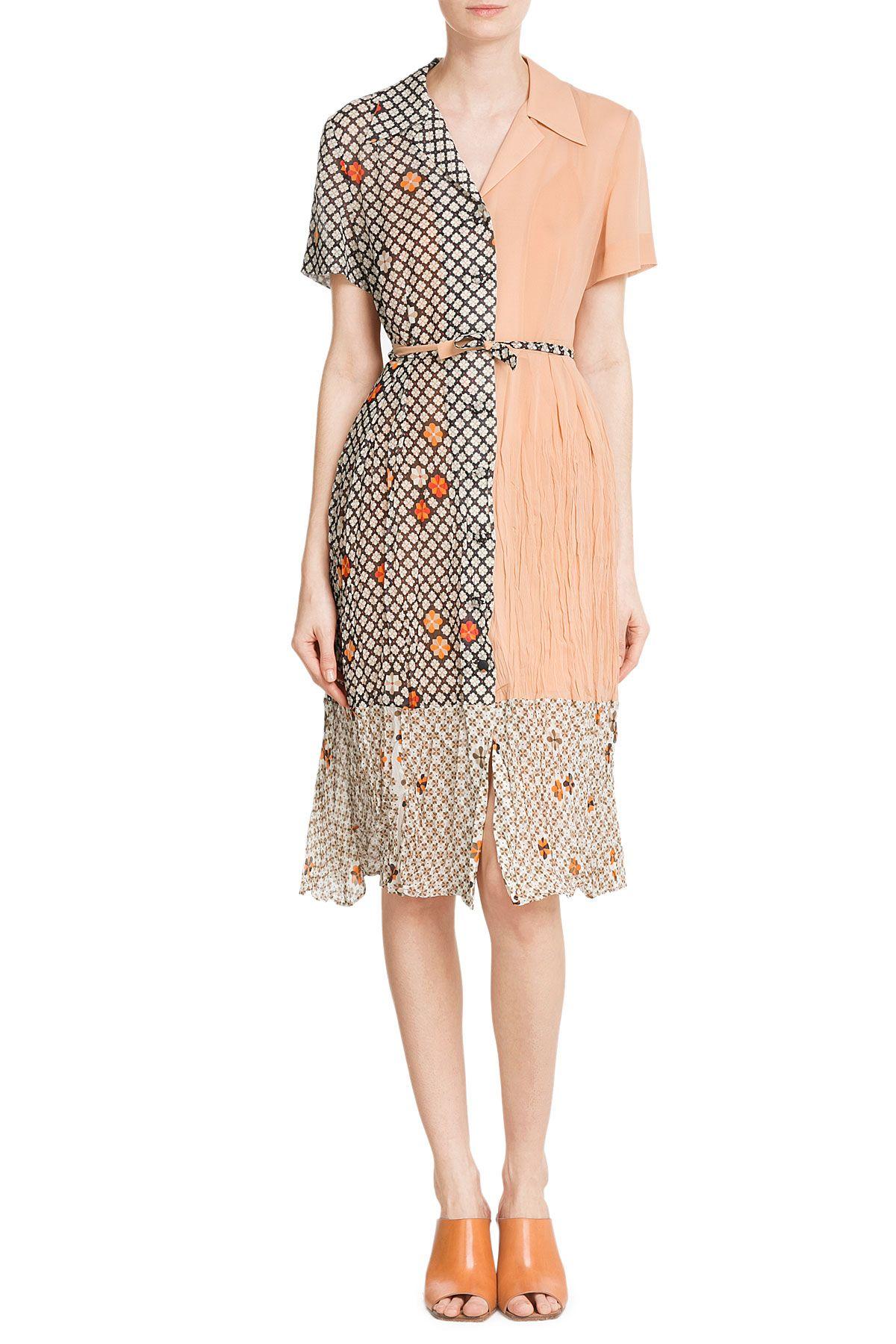 PrintedSilkDressfromMAISONMARGIELA | Luxury fashion online | STYLEBOP.com