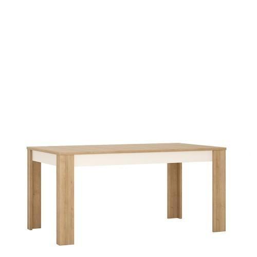 Dining set package Lyon Large extending dining table 160/200 cm + 4 Milan High Back Chair Dark Brown.