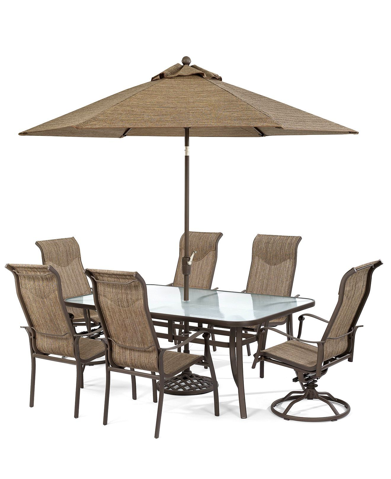 Oasis Outdoor Patio Furniture 7 Piece Set 72 x 42 Dining Table