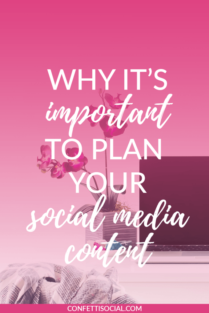 Learn why it's so important to plan your social media content to save yourself a whole lot of time and stress. social media | planning content | social media tips