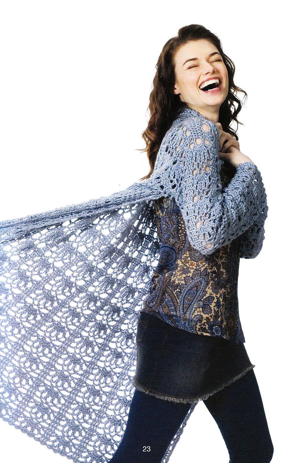 Ravelry: Openwork Duster pattern by Doris Chan | crochet | Pinterest ...