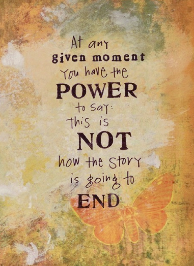 You have the power to change your story