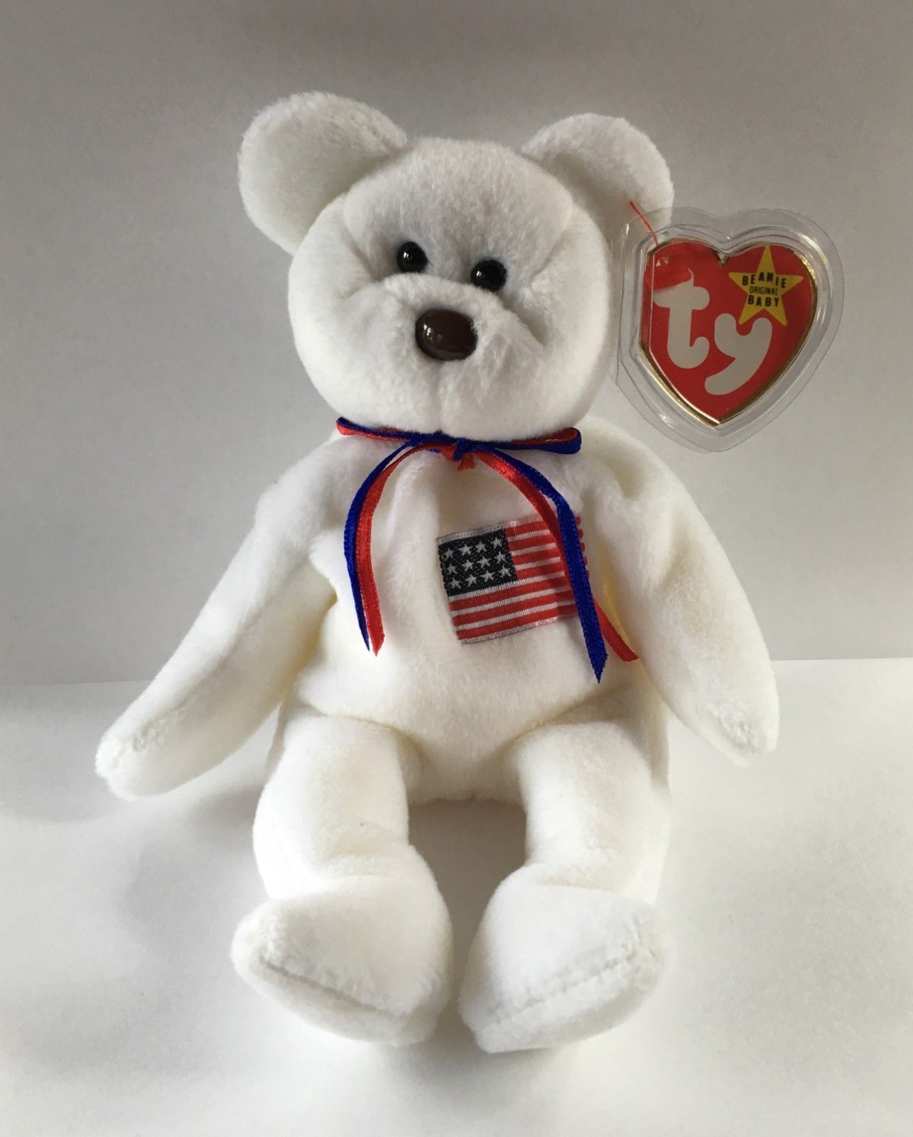 Retired 440  Vintage 1996 Ty Libearty The Usa Bear Beanie Baby Mwmt Retired  -  c4113707ea9a